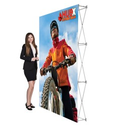 "5 ft. RPL Fabric Pop Up Display - 89""h Straight Graphic Package"