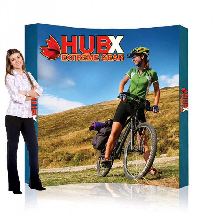 """8 ft. RPL Fabric Pop Up Display - 89""""h Curve Graphic Package"""