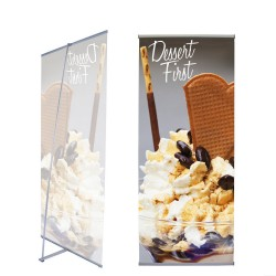 L Indoor Banner Stand | PRINT AND STAND PACKAGE