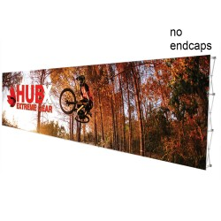 """30 ft. RPL Fabric Pop Up Display - 89""""h Straight Graphic Package"""