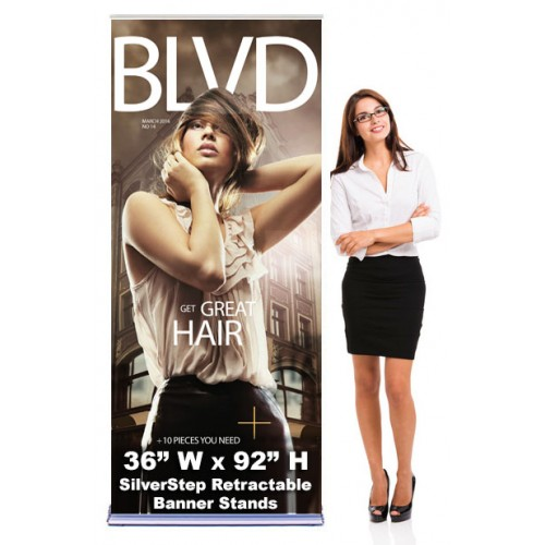 SilverStep 36x92 Retractable Banner Stand