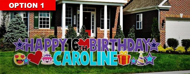 Happy Birthday Yard Card Signs Houston Yard Greetings Sign Printing Houston Card Yards In Houston